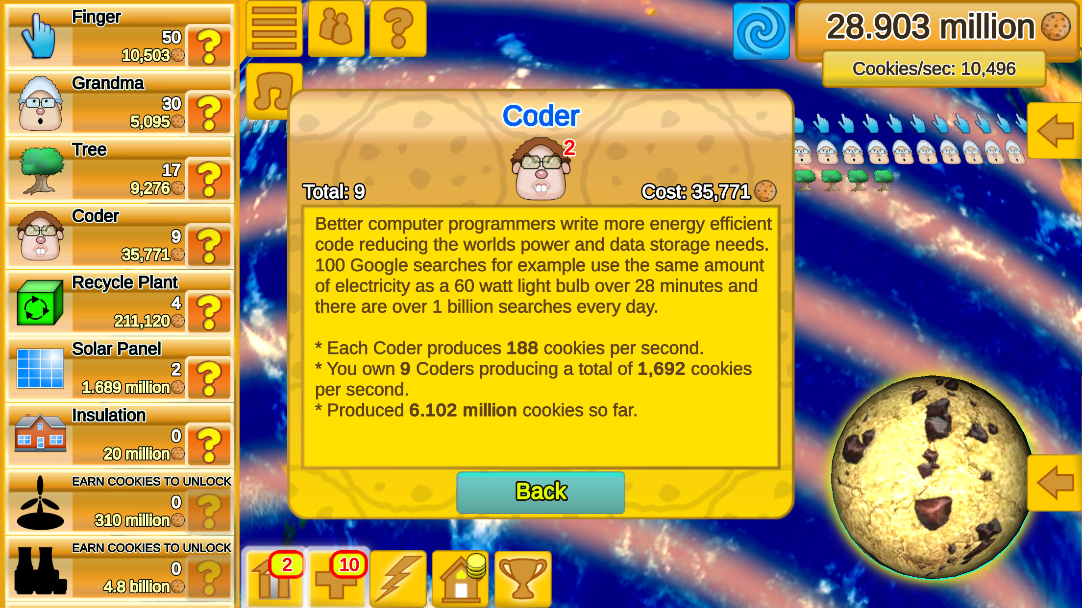 Cookie Clicker Save the World now available for iOS, Android