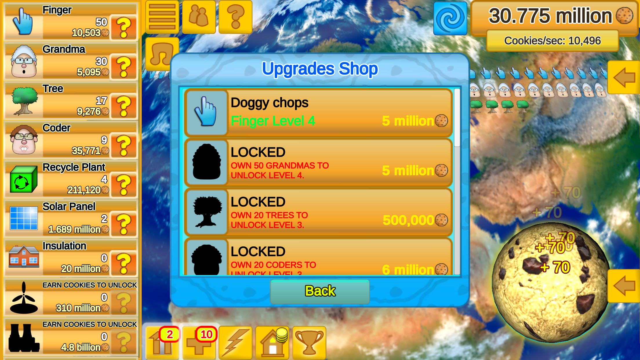 Cookie Clicker Save the World free game for iOS, Android and